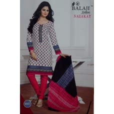 Balaji Pure Cotton White colour Unstiched Dress MaterialNFM012