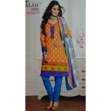 Balaji Pure Cotton Orange colour Unstiched Dress MaterialNFM015