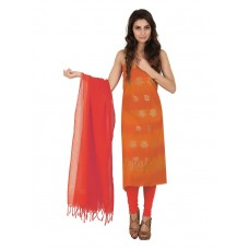 Platinum Fabrics Orange Zari Work Jacquard Unstitched Fancy Unstitched Dress MaterialPSLN1450